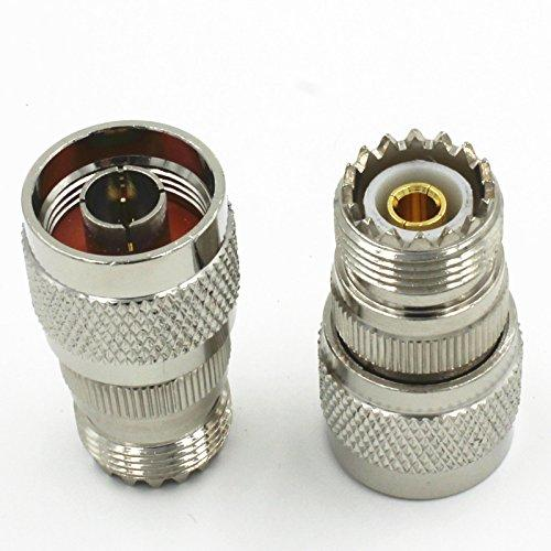 1* New N Type Male Plug To Uhf Pl259 Female So-239 Adapter Connector High Quality Quick Ship From Us