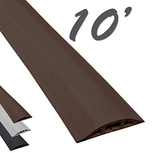 D-2 Low Profile Rubber Duct Cord Cover - Length: 10Ft - Color: Brown