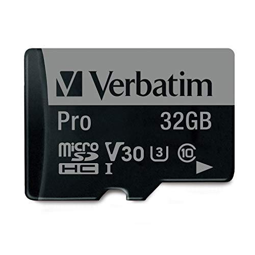 Verbatim 32Gb Pro 600X Microsdhc Memory Card With Adapter, Uhs-I V30 U3 Class 10
