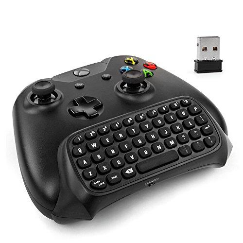 Xbox One Controller Keyboard - 2.4Ghz Wireless Mini Bluetooth Text Messenger Chatpad Keypad Adapter For Xbox One Game Controller Black [Xbox One]