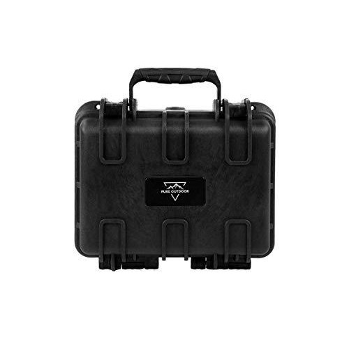 "Monoprice Weatherproof/Shockproof Hard Case - Black Ip67 Level Dust And Water Protection Up To 1 Meter Depth With Customizable Foam, 12"" X 10"" X 6"""