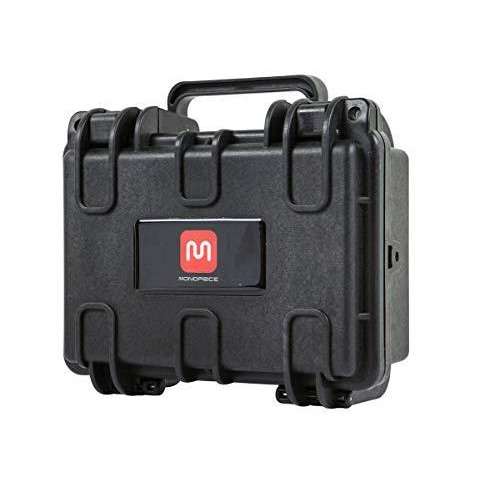 "Monoprice Weatherproof/Shockproof Hard Case - Black Ip67 Level Dust And Water Protection Up To 1 Meter Depth With Customizable Foam, 8"" X 7"" X 4"""