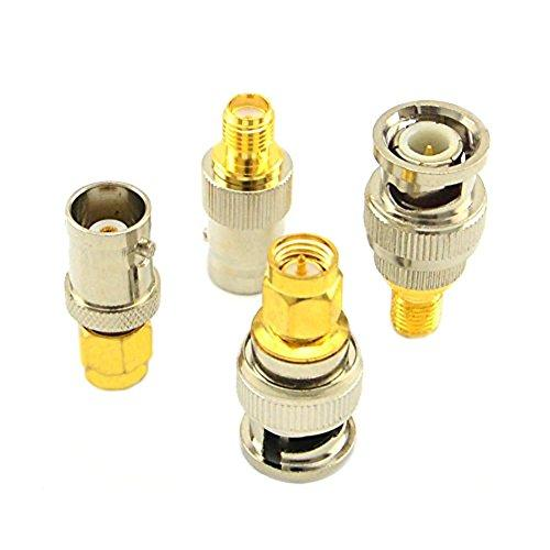 Sma To Bnc Kits Rf Coaxial Adapter Male Female Coax Connector 4 Pieces ...