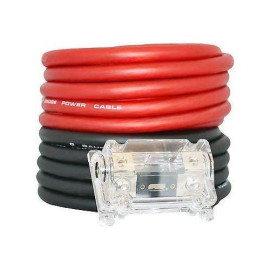 Soundbox Connected 0 Gauge Red/Black Amplifier Power/Ground Wire Set, 50 Ft. Cables