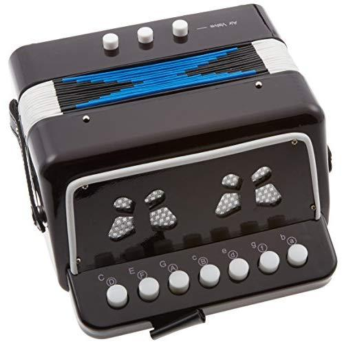 Sky Accordion Black Color 7 Button 2 Bass Kid Music Instrument Easy To Playgreat Gift