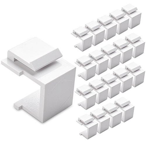 Cable Matters (20-Pack) Blank Keystone Jack Inserts In White