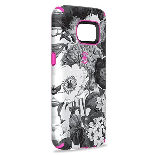Speck Products Samsung Galaxy S7 Case, Candyshell Inked Case (Vintage Bouquet Grey/Shocking Pink), Protective Case
