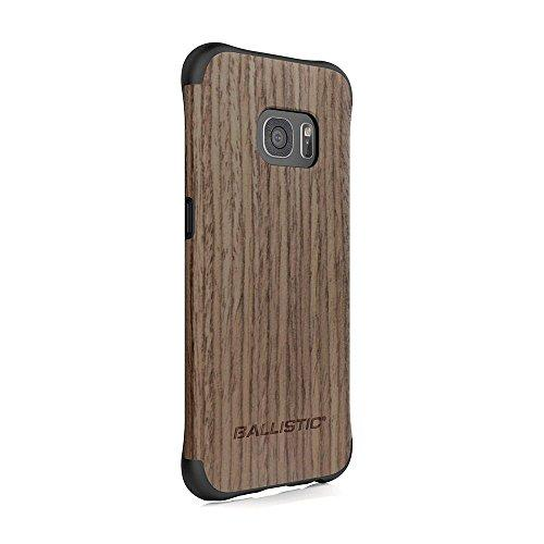 Ballistic, Galaxy S7 Edge Case [Urbanite Select] 6Ft Drop Tested Protection [Black W/Dark Ash Wood] With Design/Pattern