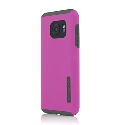 Samsung Galaxy S7 Case, Incipit, Hard Shell Case With Impact-Absorbing Core Shock-Absorbing Impact-Resistant Dual-Layer Cover - Pink/Gray