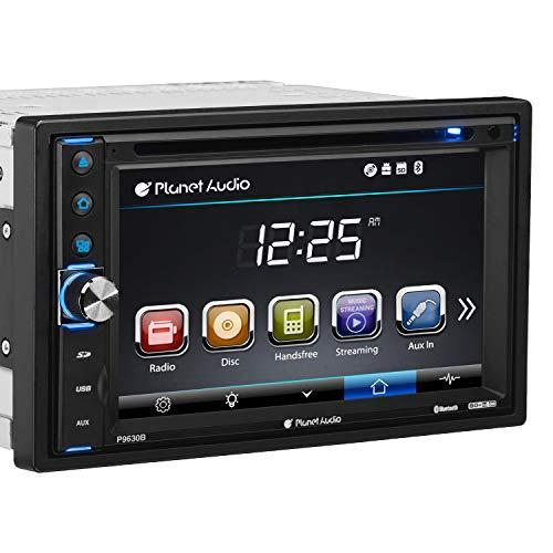 Planet Audio P9630B Car Dvd Player - Double Din, Bluetooth Audio And Calling, 6.2 Inch Lcd Touchscreen Monitor, Mp3 Player, Cd, Dvd, Wma, Usb, Sd, Auxiliary Input, Am/Fm Radio Receiver