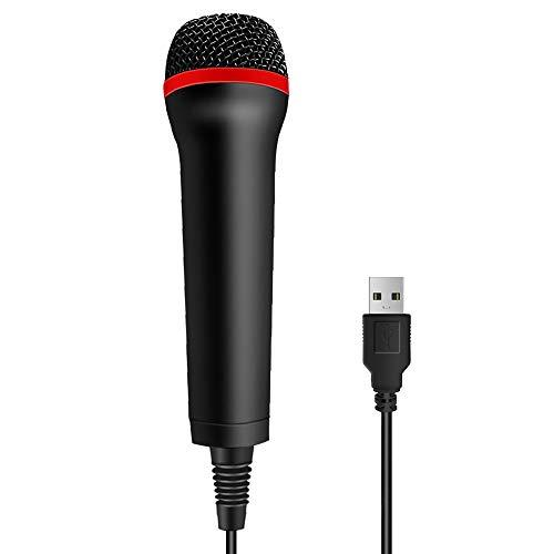 Tpfoon 4M 13Ft Wired Usb Microphone For Rock Band, Guitar Hero, Let'S Sing - Compatible With Sony Ps2, Ps3, Ps4, Nintendo Switch, Wii, Wii U, Microsoft Xbox 360, Xbox One And Pc