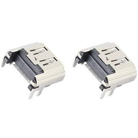 Games&Amp;Tech 2 Pcs Hdmi Port Socket Interface Connector Replacement Hdmi Port For Sony Playstation 4 Ps4 Console