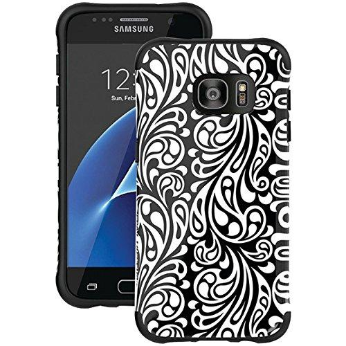 Galaxy S7 Case, Ballistic [Urbanite Select Zen (Limited Edition)] Six-Sided Drop Protection [Black W/ Spirit Pattern] 6Ft Drop Test Certified Case Reinforced Corner Protective Cover For Samsung Galaxy S7 - (Ut1688-B31N)