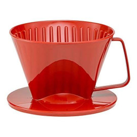 Hic Coffee Filter Cone, Red, Number 1-Size, Brews 1 To 2-Cups