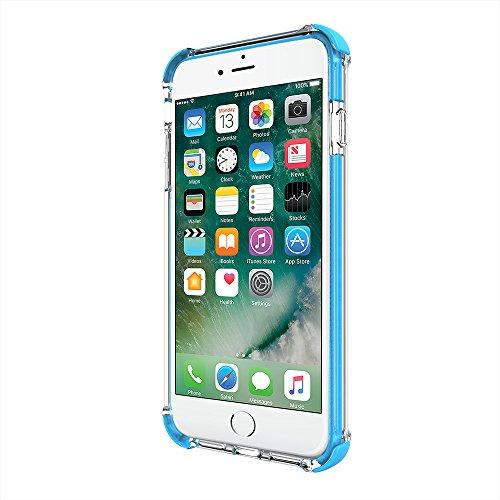 Iphone 7 Plus Case, Incipit Reprieve Sport Protective Cover [Shock Absorbing] Fits Apple Iphone 7 Plus - Clear/Cyan