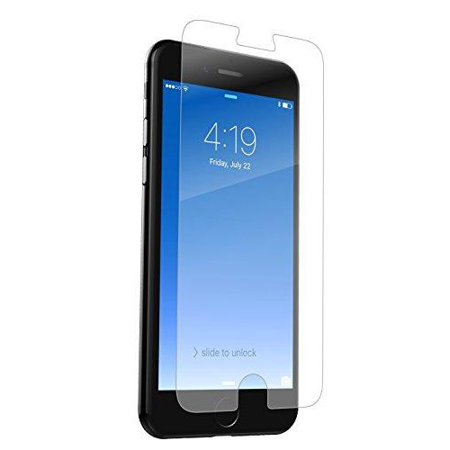 Zagg Invisible Shield Hdx - Hd Clarity & Extreme Shatter Protection - Case-Friendly Film Screen Protector For Apple Iphone 8, Iphone 7, Iphone 6S, Iphone 6 - Nano Memory Technology - Military Grade
