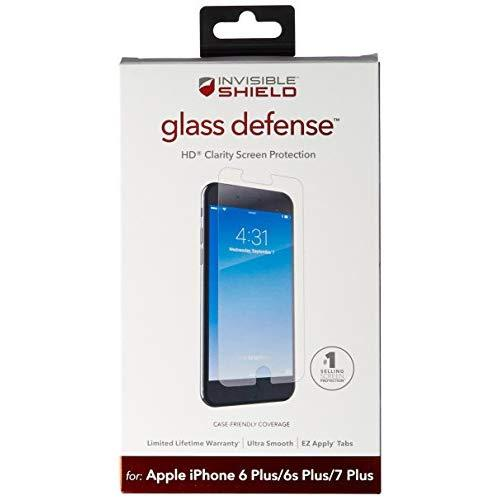 Zagg Invisibleshield Glass Defense - Screen Protector For Apple Iphone 8 Plus, Iphone 7 Plus, Iphone 6S Plus / 6 Plus - Clear