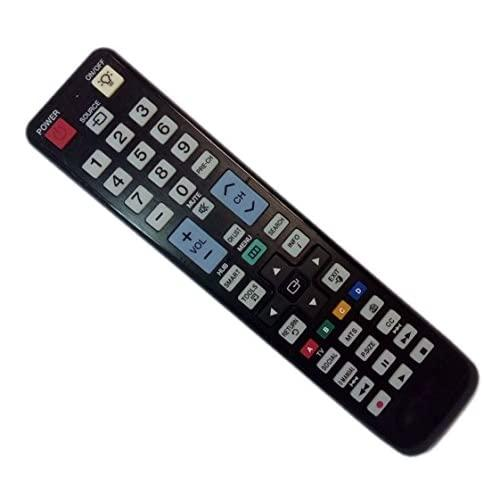 Replaced Remote Control Compatible For Samsung Un55D6450Uf Un46D6500 Un55D6450 Un55D6450Uf Un55D6450Ufxza Un46D7500 Lcd Led Hdtv Tv