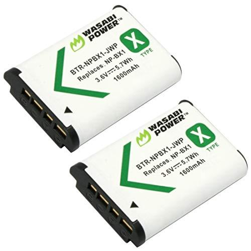 Wasabi Power Np-Bx1 Battery (2-Pack) For Sony Np-Bx1/M8, Cyber-Shot Dsc-Hx80, Hx90V, Hx95, Hx99, Hx350, Rx1, Rx1R Ii, Rx100 (Ii/Iii/Iv/V/Va/Vi), Fdr-X3000, Hdr-As50, As300 + More