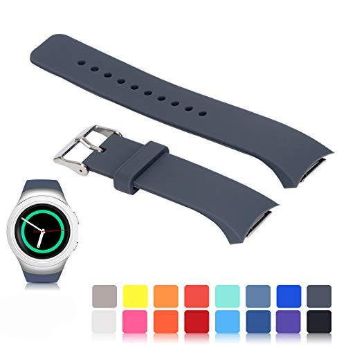 Ysang For Samsung Gear S2 Sm-R720/R730 Watch Replacement Band Accessory Small/Large Size Soft Silicone Wristband Strap Smartwatch Sport Band Fit For Samsung Galaxy Gear S2 Sm-720/Sm-730 Smartwatch