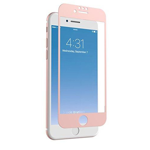 Zagg Invisibleshield Glass + Luxe Screen Protector For Apple Iphone 8, Iphone 7, Iphone 6S, Iphone 6 - Extreme Impact And Scratch Protection - Rose Gold