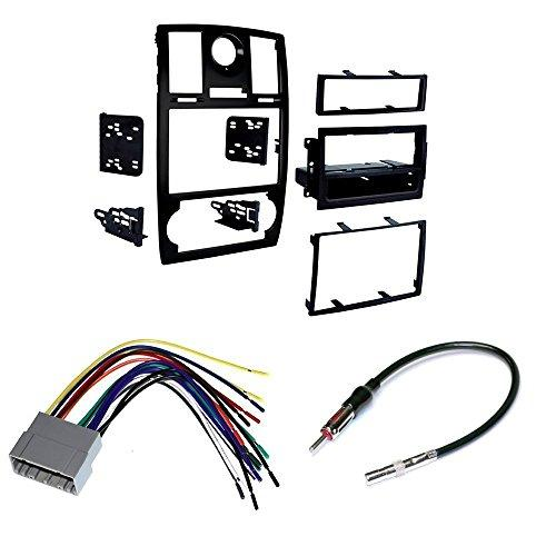 Car Stereo Install Mounting Kit Wire Harness And Radio Antenna Fits 2005-07 Chrysler 300