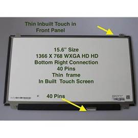"""For Dell Inspiron 15-5559 Replacement Laptop Lcd Screen 15.6"""" Wxga Hd Led Diode (Substitute Replacement Lcd Screen Only. Not A Laptop) (0Jj45K B156Xtk01.0 Touch)"""