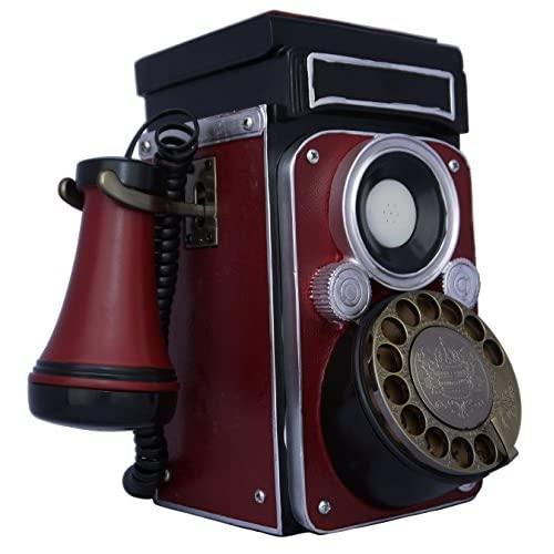 Techplay Cp28 Classic Rotary Dial, Old Fashion Camera Design, Phone