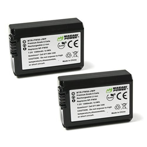 Wasabi Power Np-Fw50 Camera Battery (2-Pack) For Sony Alpha A5100, A6000, A6300, A6400, A6500, Alpha A7, A7 Ii, A7R, A7R Ii, A7S, A7S Ii, Cyber-Shot Dsc-Rx10 Ii, Rx10 Iii, Rx10 Iv And More