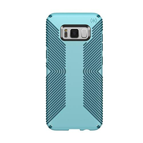 Speck Products Presidio Grip Cell Phone Case For Samsung Galaxy S8 - Robin Egg Blue/Tide Blue