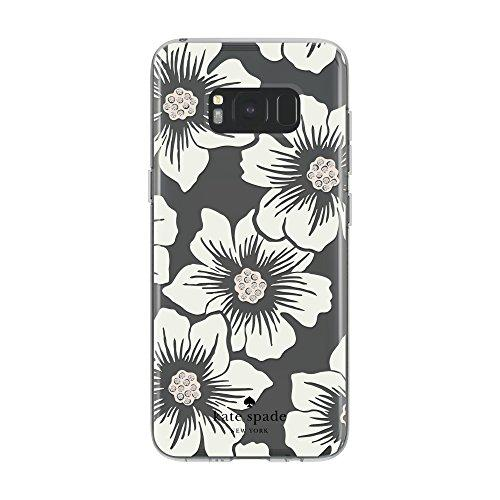Kate Spade New York Protective Hardshell Case For Samsung Galaxy S8 - Hollyhock Floral Clear/Cream With Stones