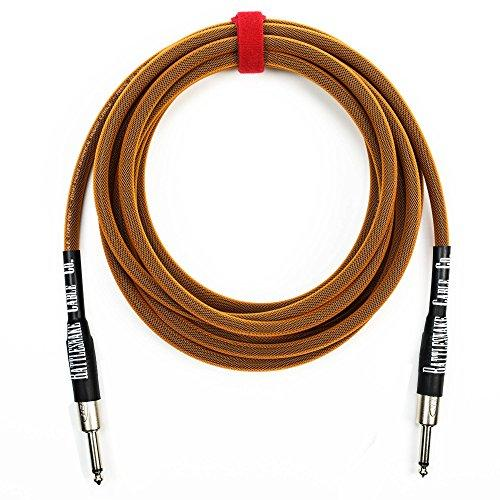 Rattlesnake Cable - 15 Foot Standard Copper Guitar Instrument Cable Straight To Straight 1/4-Inch Plugs
