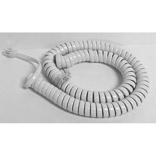 The Voip Lounge Replacement 12 Foot White Handset Curly Cord For At&Amp;T Phone