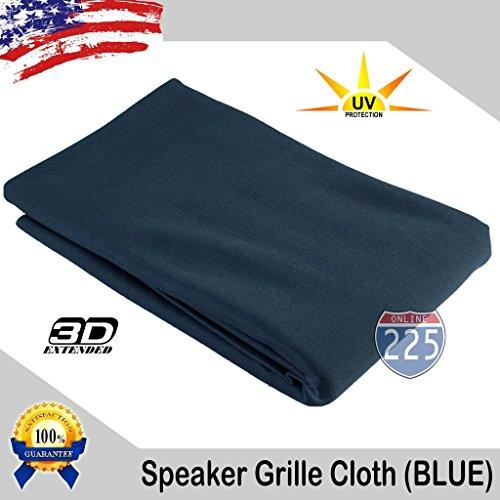"""Blue Stereo Speaker Grill Cloth Fabric 36"""" X 66"""" (1 Linear Yard) - Uv Treated Strech Material 3D Us Grille Cloth"""
