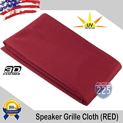 """Red Stereo Speaker Grill Cloth Fabric 36"""" X 66"""" (1 Linear Yard) - Uv Treated Strech Material 3D Us Grille Cloth"""