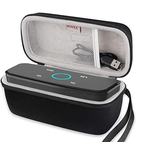 Bovke Travel Case For Doss Soundbox Touch Wireless Bluetooth V4.0 Portable Speaker - Fits Cable, Black