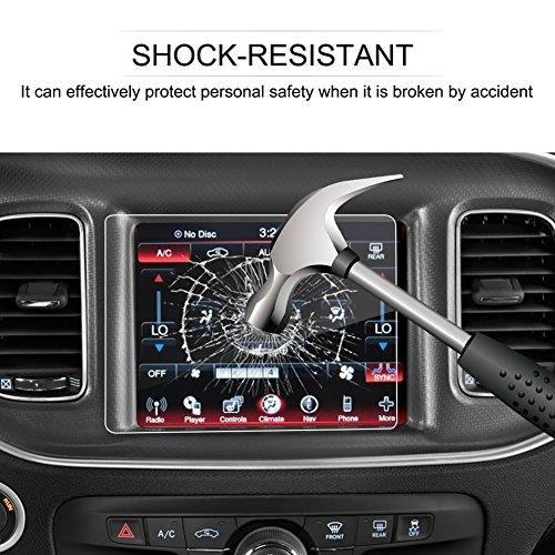 Lfotpp Dodge Challenger Charger Durango Dart Journey Uconnect 8.4-Inch Car Display Navigation Info Center Touch Screen Protector,Lfotpp Tempered Glass Scratch-Resistant For 8.4-Inch