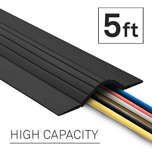 Ut Wire 5' Cable Blanket Low Profile Cord Cover And Protector, Black