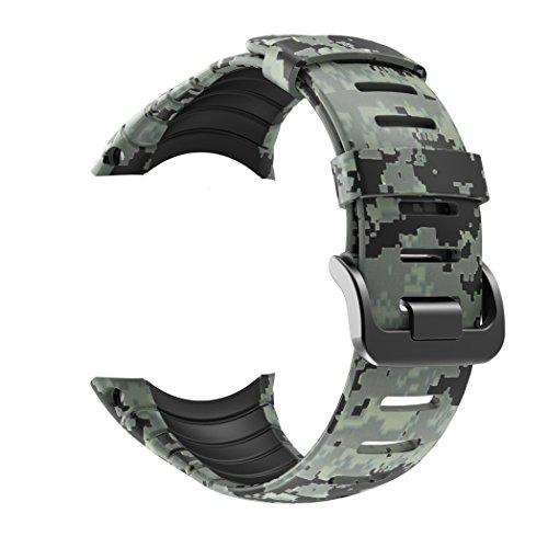 Patrohoo Suunto Core Strap, Rubber Replacement Watch Band For Suunto Core Ss014993000,Transparent Camouflage