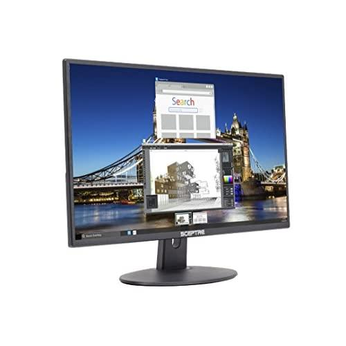 """Sceptre E205W-16003R 20"""" 1600X900 Up To 75Hz Ultra Thin Frameless Led Monitor 2X Hdmi Vga Built-In Speakers, Machine Black (Wide Viewing Angle 170"""