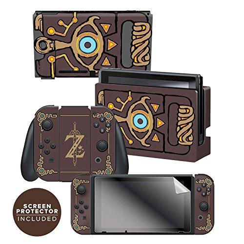 """Controller Gear Nintendo Switch Skin &Amp; Screen Protector Set Officially Licensed By Nintendo - The Legend Of Zelda: Breath Of The Wild: """"Sheikah Slate"""" - Nintendo Switch"""