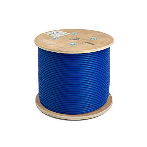 Logico Cat6A Utp 1000Ft Bulk Ethernet Network Cable 10G 23Awg Solid Wire Plenum Blue