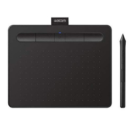 """Wacom Intuos Wireless Graphics Drawing Tablet with 3 Bonus Software Included, 7.9"""" X 6.3"""", Black (CTL4100WLK0)"""