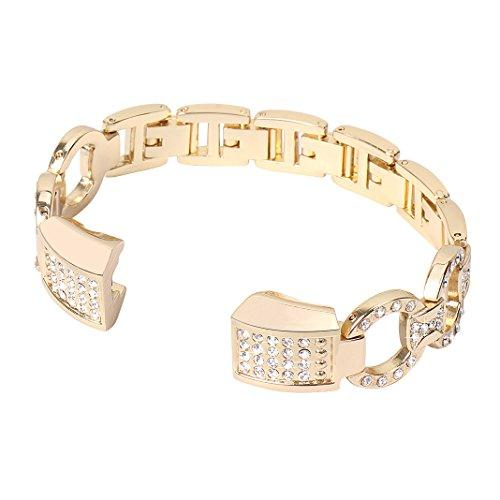 For Fitbit Alta Hr Band, Aisports Fitbit Alta Stainless Steel Rhinestone Band Bling Glitter Smart Watch Replacement Bands Metal Buckle Clasp For Fitbit Alta/Fitbit Alta Hr Fitness Accessories - Gold