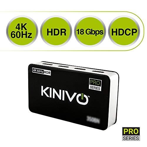 Kinivo 350Bn 4K Hdmi Switch With Ir Wireless Remote (3 Port, 4K 60Hz Hdr, High Speed-18Gbps, Auto-Switching)