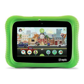Leapfrog Epic Academy Edition 7-Inch Touchscreen Kids Tablet With 1.3 Ghz Quad-Core Processor 16Gb Memory And Android Os, Green (Non-Retail Packaging)