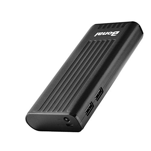 Bonai Portable Charger, Usb Power Bank 10,000Mah External Battery Pack And Flashlight Compatible Iphone X 8 6 7+ Plus 6S 8 Ipad Samsung Galaxy S8 S7 Note 8 Phone Smartphones Tablet (Black) [Upgraded]