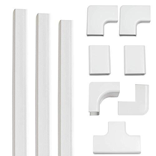 Echogear On-Wall Cable Raceway Kit For Hiding Up To 4 Cords - Easy Peel &Amp; Stick Install