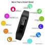 Huawei Band 3E Smart Fitness Activity Tracker, Dual Wrist & Footwear Mode, 5Atm Water Resistance For Swim, Professional Running Guidance, Black, One Size