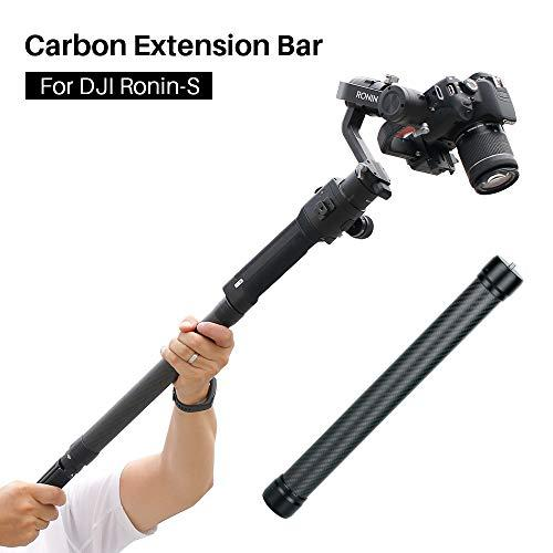 """Agimbalgear Dh10 Upgrade Gimbal Extension Pole Carbon Fiber Bar Lightweight But Strong 1/4"""" Universal Rod Compatible With Dji Ronin S, Ronin Sc, Osmo Mobile 3, Zhiyun Crane 2 V2 Stabilizer Dslr Camera"""
